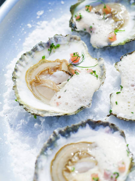 Delicatessen Photograph - Oysters Close-up Sweden by Niklas Bernstone