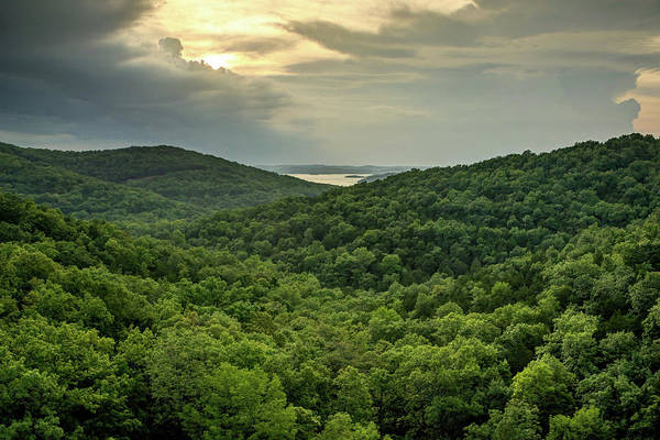 Photograph - Ozark Mountain Landscape And Table Rock Lake by Gregory Ballos