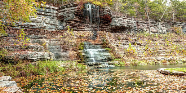 Photograph - Ozark Mountain Waterfall - Dogwood Canyon Nature Park by Gregory Ballos