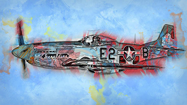 Painting - P-51 Mustang - 21 by Andrea Mazzocchetti
