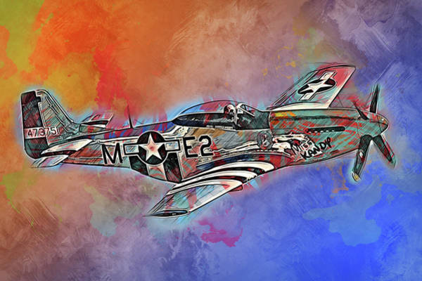 Painting - P-51 Mustang - 23 by Andrea Mazzocchetti