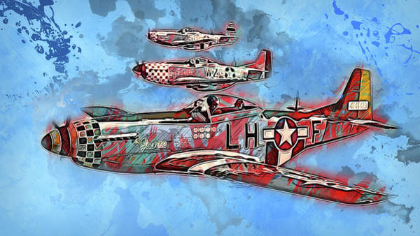 Painting - P-51 Mustang - 24 by Andrea Mazzocchetti