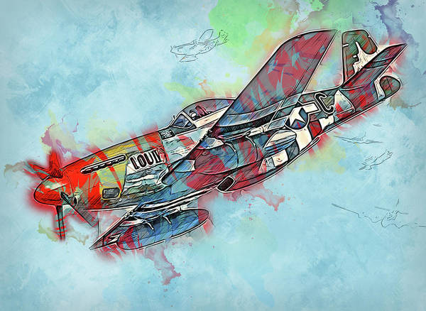 Painting - P-51 Mustang - 26 by Andrea Mazzocchetti