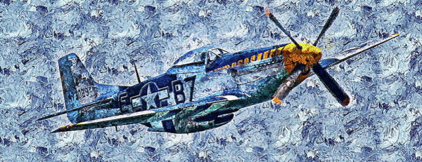Painting - P-51 Mustang - 29 by Andrea Mazzocchetti