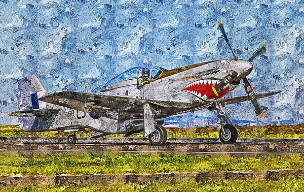 Painting - P-51 Mustang - 31 by Andrea Mazzocchetti