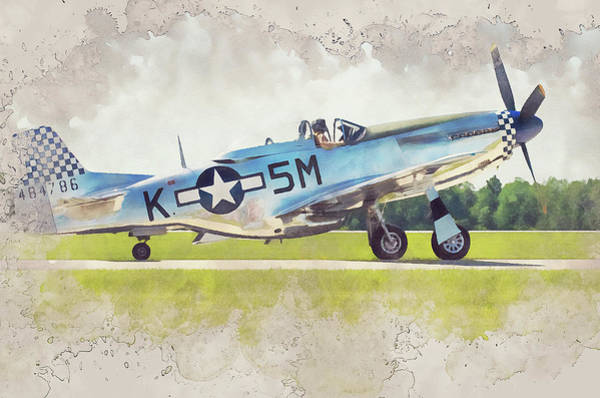 Painting - P-51 Mustang - 32 by Andrea Mazzocchetti
