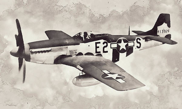 Painting - P-51 Mustang - 34 by Andrea Mazzocchetti