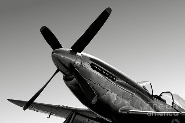 Wall Art - Photograph - P-51 Mustang by Olivier Le Queinec