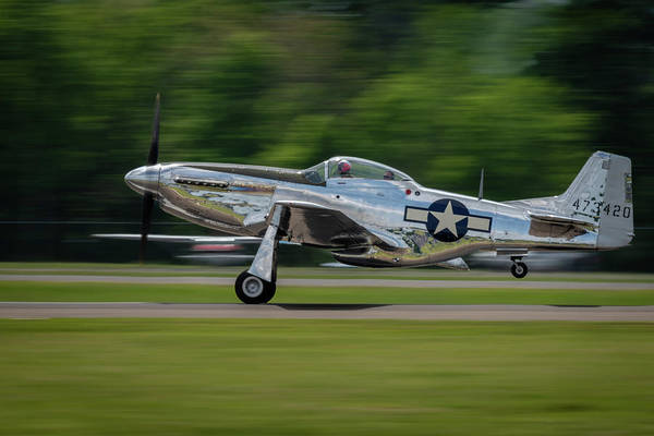 Photograph - P-51 Mustang Takeoff by Todd Henson