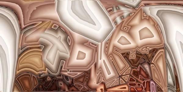 Distortions Digital Art - P Coords 4 by Ron Bissett