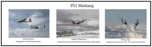 Wall Art - Digital Art - P51 Mustang - Story Board by Pat Speirs