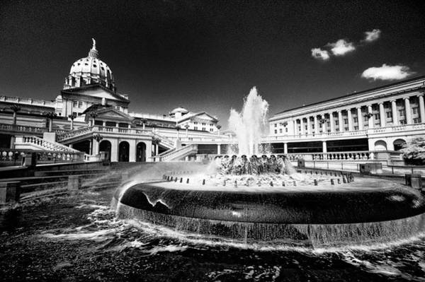 Photograph - Pa Capital Fountain by Paul W Faust - Impressions of Light