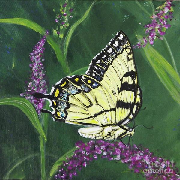 Painting - pa75 Yellow Swallowtail by Lizi Beard-Ward