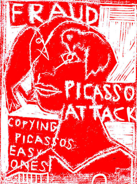 Digital Art - Pablo Picasso Attack 1 by Artist Dot