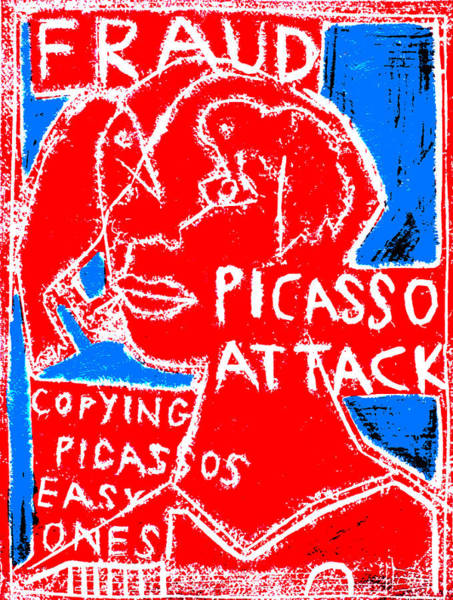 Digital Art - Pablo Picasso Attack 3 by Artist Dot