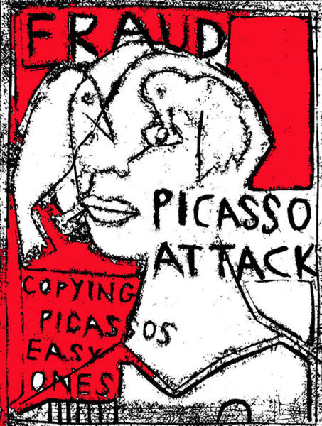 Digital Art - Pablo Picasso Attack 5 by Artist Dot