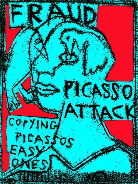 Digital Art - Pablo Picasso Attack 8 by Artist Dot