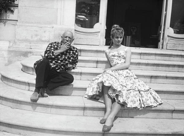 Photograph - Pablo Picasso With Brigitte Bardot by Bettmann