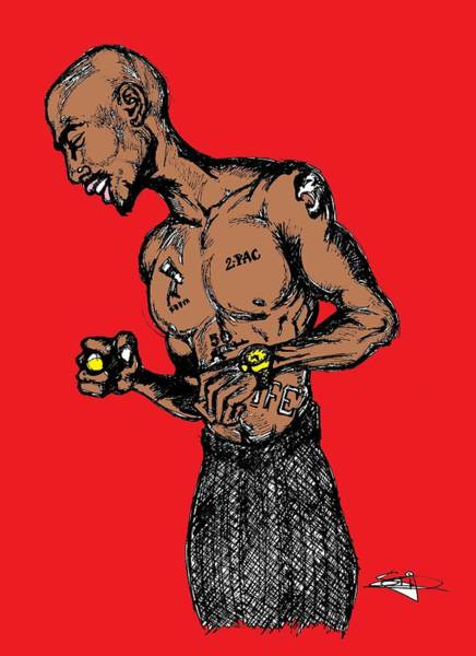 Neon Drawing - Pac by SKIP Smith