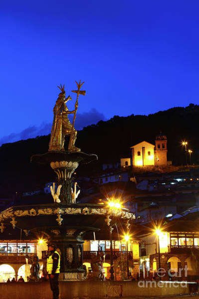 Photograph - Pachacutec And Plaza De Armas Cusco Peru by James Brunker