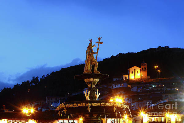 Photograph - Pachacutec And San Cristobal Church Cusco Peru by James Brunker