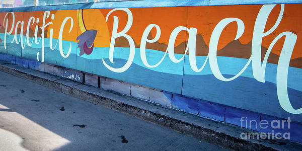 Photograph - Pacific Beach Sign San Diego California by Edward Fielding