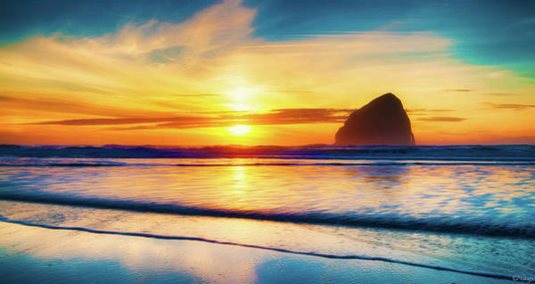 Photograph - Pacific City Surf Sunset by Dee Browning