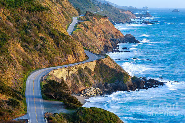 Wall Art - Photograph - Pacific Coast Highway Highway 1 At by Doug Meek