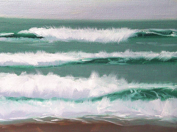 Wave Breaking Painting - Pacific Coast by Nancy Merkle