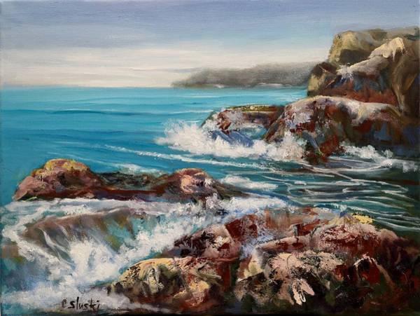 Wall Art - Painting - Pacific No.1 by Carole Sluski