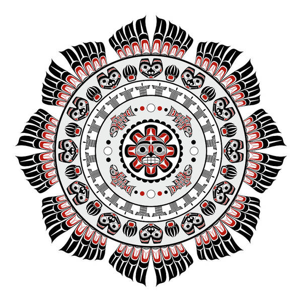 Digital Art - Pacific Northwest Native American Art Mandala by Debi Dalio