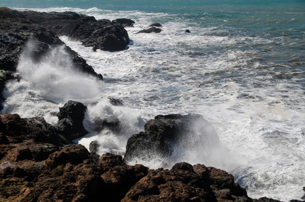 Photograph - Pacific Ocean Spray - Shelter Cove California by Bill Cannon