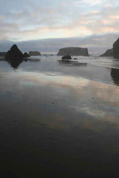 Photograph - Pacific Outcropping Reflections by Dylan Punke