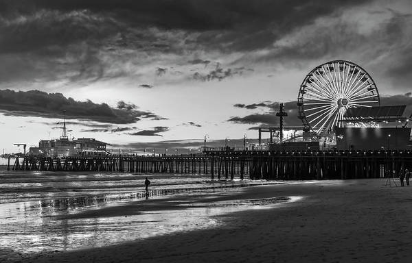 Photograph - Pacific Park - Black And White by Gene Parks