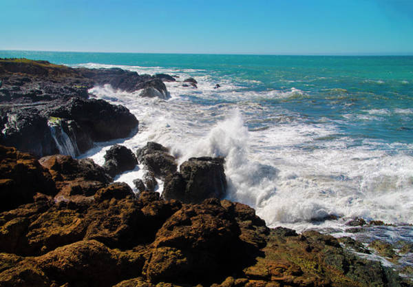 Photograph - Pacific Spray - Shelter Cove Tide Pool by Bill Cannon