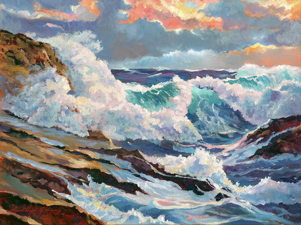 Painting - Pacific Storm by David Lloyd Glover