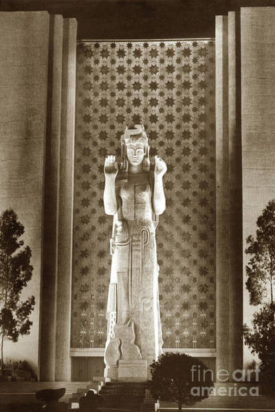 Photograph - Pacifica Was A Statue Created By Ralph Stackpole For The 1939 1940 Golden Gate International Exposit by California Views Archives Mr Pat Hathaway Archives