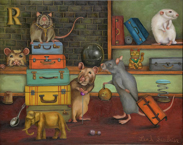 Painting - Pack Rat's by Leah Saulnier The Painting Maniac