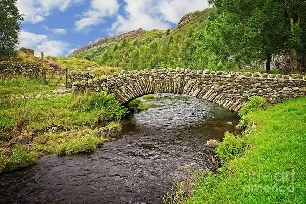 Photograph - Packhorse Bridge, Lake District by Martyn Arnold