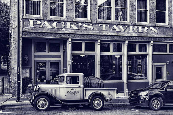 Wall Art - Photograph - Packs Tavern Black And White by Sharon Popek