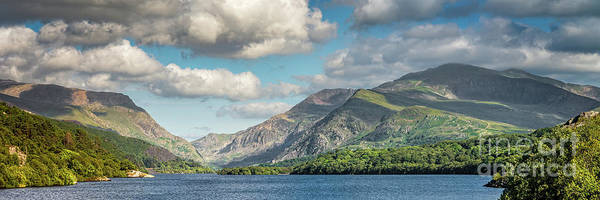 Wall Art - Photograph - Padarn Lake Snowdonia Panorama by Adrian Evans