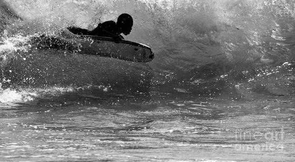 Wall Art - Photograph - Paddle Surfer In The Wave by Debra Banks
