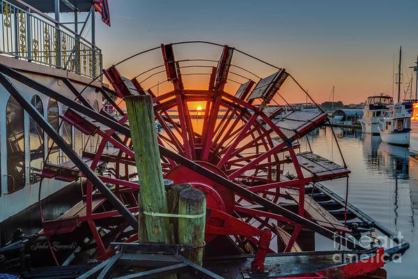 Photograph - Paddle Wheel Sunrise by John Zawacki
