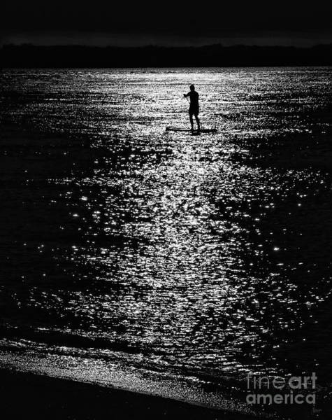 Photograph - Paddleboarding In Silhouette by Jeff Breiman