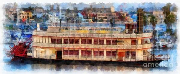 Digital Art - Paddlewheel San Diego Mission Bay by Edward Fielding