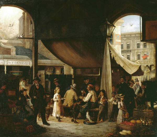 Painting - Paddy's Market by Louis Tannert