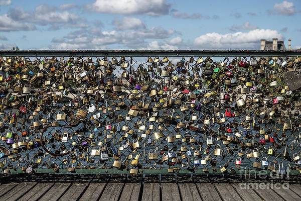 Wall Art - Photograph - Padlocks On Footbridge, Paris, France by José González
