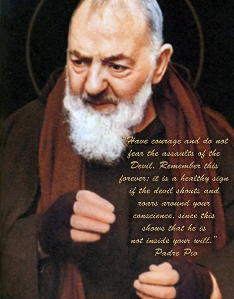 Padre Pio Wall Art - Photograph - Padre Pio On The Devil. by Samuel Epperly