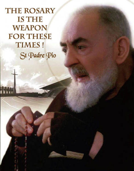 Padre Pio Wall Art - Photograph - Padre Pio On The Rosary by Samuel Epperly