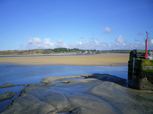 Wall Art - Photograph - Padsow Cornwall Harbour Entrance At Low Tide by Richard Brookes